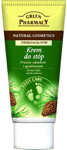 Green Pharmacy Krem do stop przeciw odciskom i zgrubieniom Kwasy AHA, Olejek cedrowy 50ml 810735 Roku, pēdu kopšana