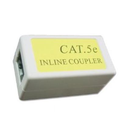 Gembird Cat. 5E LAN coupler, white color