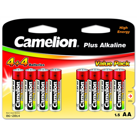 Camelion Plus Alkaline AA (4+4) value pack Baterija