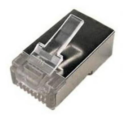 Logilink Modular Plug CAT5  8P8C Shielded 100 pcs, polybag