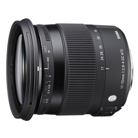 Sigma AF 17-70mm F2.8-4.0 DC MACRO OS HSM for Canon, 17 Elem foto objektīvs