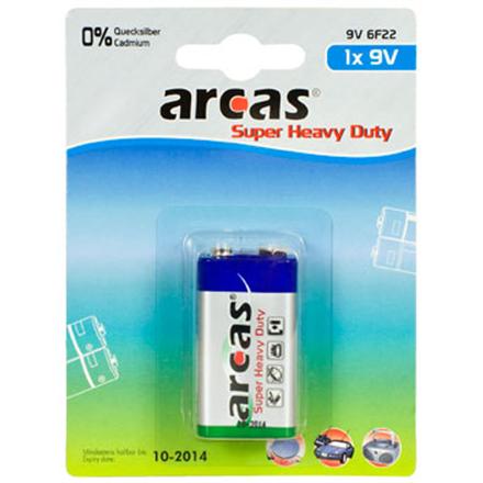 Arcas Super Heavy Duty 9V Block (6LF22), 1-pack Baterija