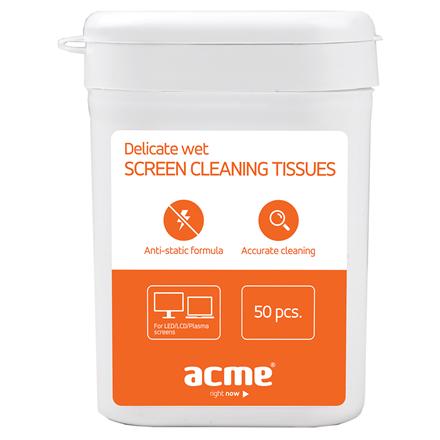 Acme CL01 Delicate screen cleaning tissues 50 pcs tīrīšanas līdzeklis