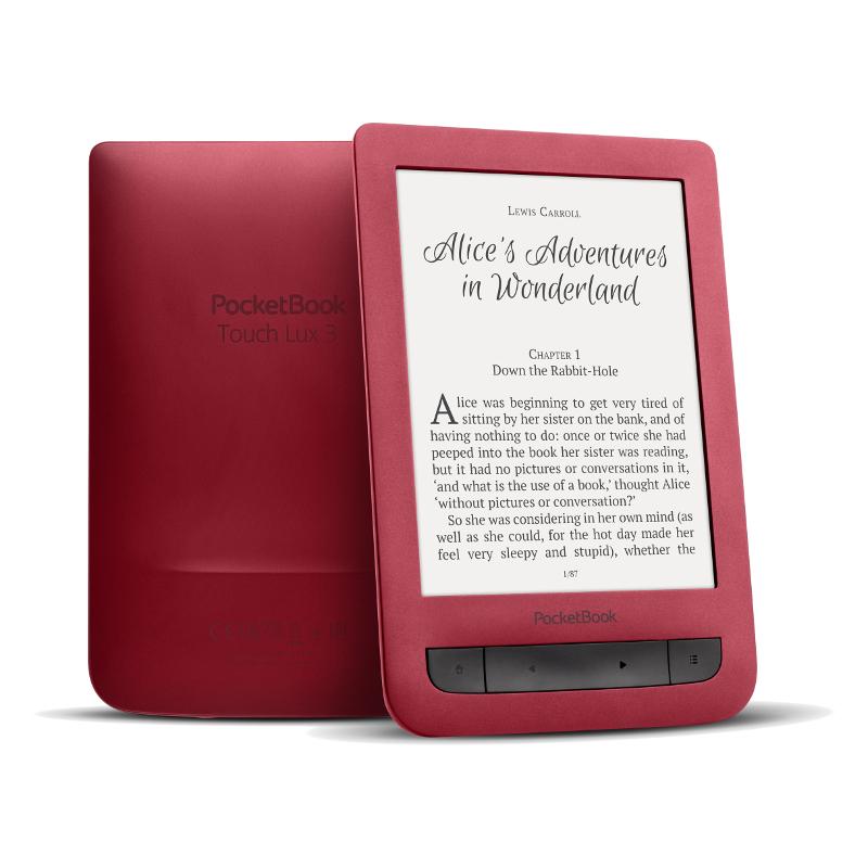 POCKETBOOK Touch Lux 3 Rubine Red Elektroniskais grāmatu lasītājs