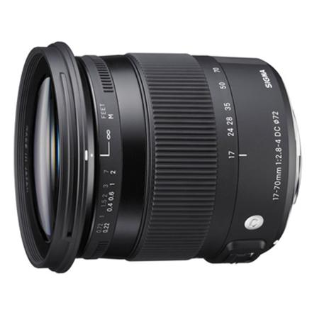 Sigma AF 17-70mm F2.8-4.0 DC MACRO OS HSM for Nikon, 17 Elem foto objektīvs