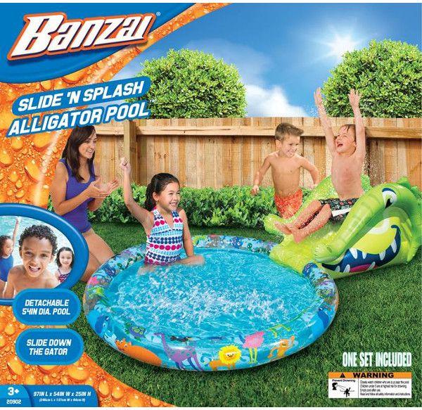 Banzai Basen ogrodowy ze zjezdzalnia krokodyl - 20902 20902