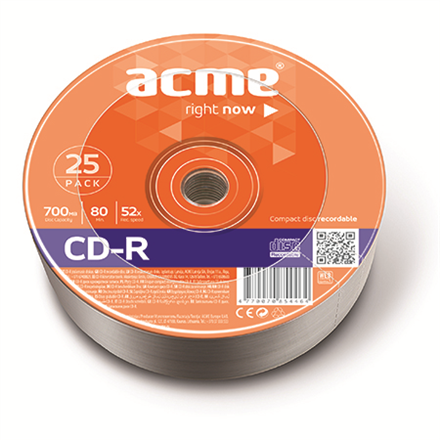 ACME CD-R 80/700MB 52X 25pack shrink