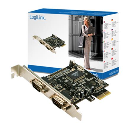 Logilink PCI-express interface card, 2x com(serial) karte