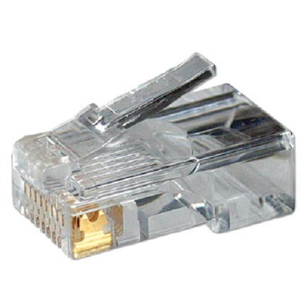 Modular Plug CAT5  8P8C Unshielded 100 pcs, polybag