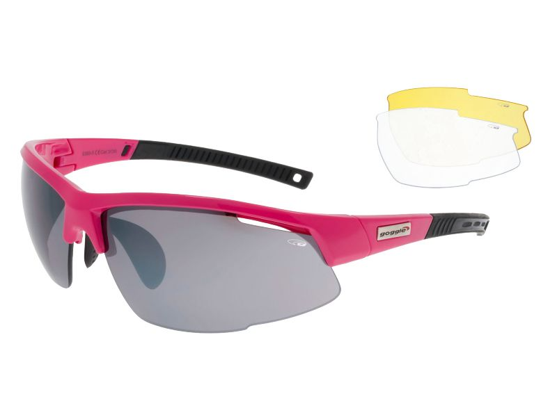 Goggle Okulary sportowe Falcon Pink r. uniwersalny (E865-5) E865-5