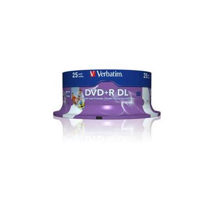 Verbatim DVD+R DOUBLE LAYER 8.5GB 8X 25pack AZO WIDE PRINTAB matricas