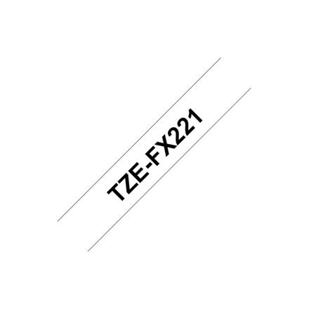 Brother TZ-EFX221, 9mm black on white flexible tape biroja tehnikas aksesuāri