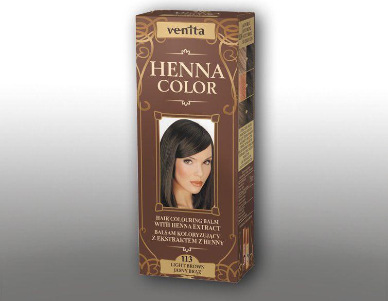 Venita Ziolowe Balsamy Henna Color 113 jasny braz 75ml V1102