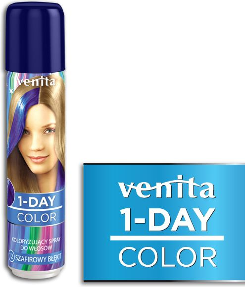 Venita 1-Day color spray 12 szafirowy blekit V1612