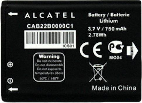 Alcatel original battery CAB22B0000C1 750 mAh AKU_2012G akumulators, baterija mobilajam telefonam