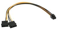 InLine Adapter  2x Molex - 6 Pin PCI-E 0.3m (26628) kabelis datoram