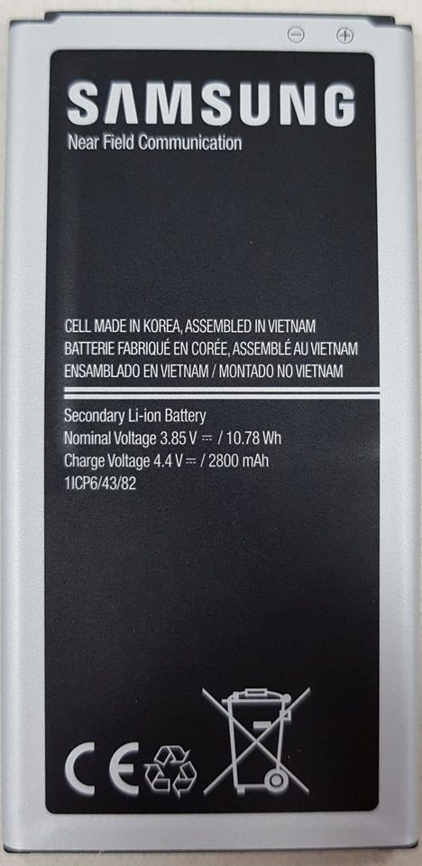 Samsung EB-BG390BBE Oriģināls Akumulators G390 Xcover 4 2800 mAh (OEM) akumulators, baterija mobilajam telefonam