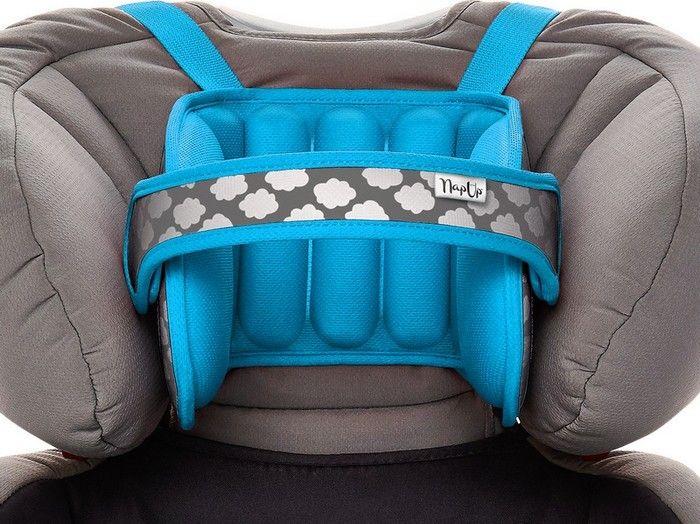 NapUp Head support band in a car seat - blue Bērnu sēdeklīšu aksesuāri