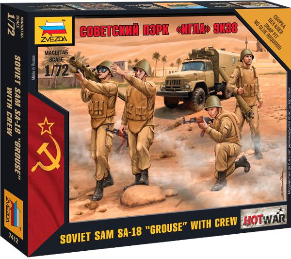 ZVEZDA Soviet SAM SA-18 Grouse with Crew bērnu rotaļlieta