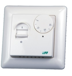 F&F Regulator temperatury 230V 16A -5-60 degrees C IP20 white (RT-824)