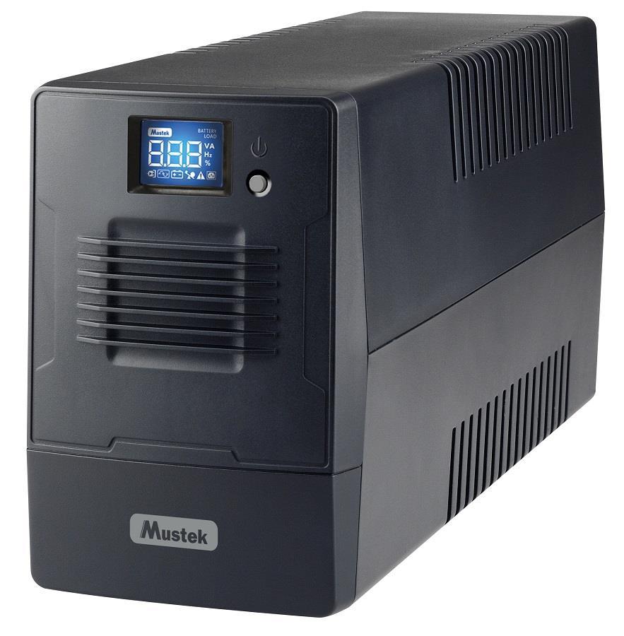 Mustek PowerMust 800 LCD Line Int. IEC 800-LCD-LI-T20 nepārtrauktas barošanas avots UPS