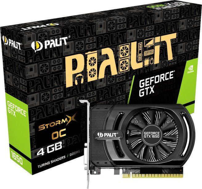 GeForce GTX 1650 STORMX OC 4G GDDR5 128BIT DVI-D / HDMI video karte