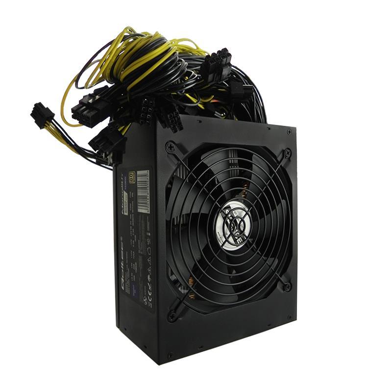 Qoltec ATX Power Supply 1600W   80 Plus Gold   Bitcoin Miner 50147 Barošanas bloks, PSU