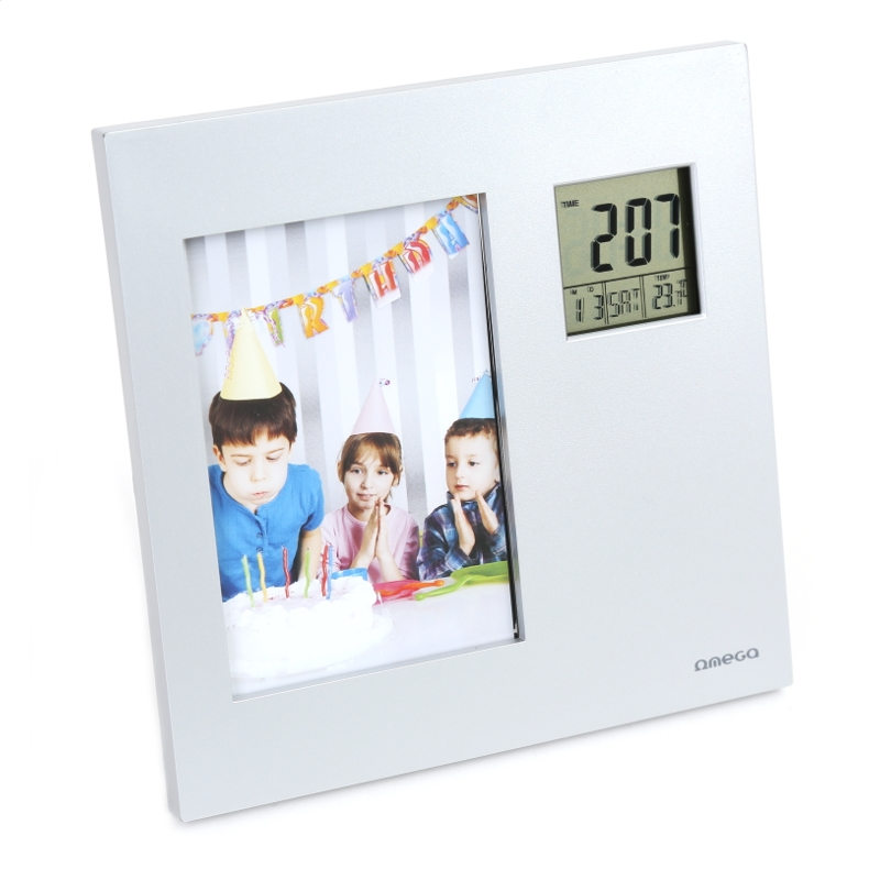 OMEGA DIGITAL WEATHER STATION WITH PHOTO FRAME [542363] OWSPF01 Laika stacija