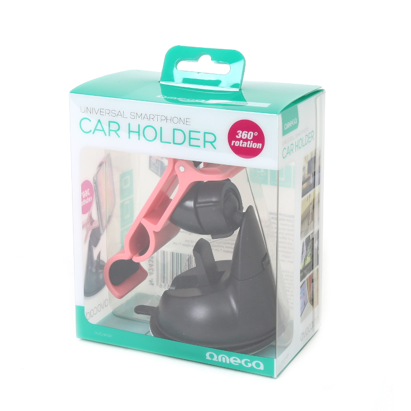 OMEGA UNIVERSAL SMARTPHONE CAR HOLDER AVOCADO BLACK & PINK Mobilo telefonu turētāji