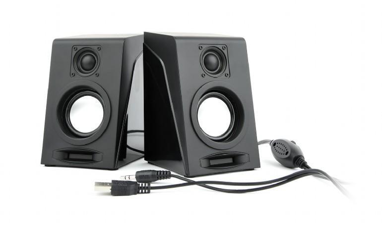Gembird Desktop Multimedia Stereo Speakers set 2.0 ''Breeze'', RMS 6W, black datoru skaļruņi