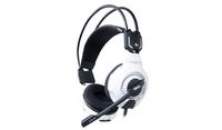 E-Blue Mazer Type X 7.1 Pro Gaming Spēļu Austiņas ar Mikrofonu / LED Apgaismojumu / USB / Baltas austiņas