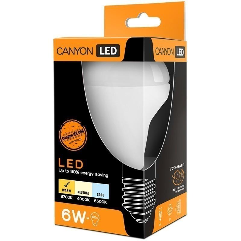 CANYON R50E14FR6W230VW LED lamp, R50 shape, E14, 6W, 220-240V, 120°, 470 lm, 2700K, Ra>80, 50000 h apgaismes ķermenis