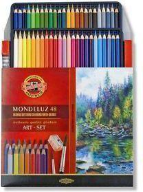 KOH-I-NOOR Watercolor crayons 48 colors Mondeluz