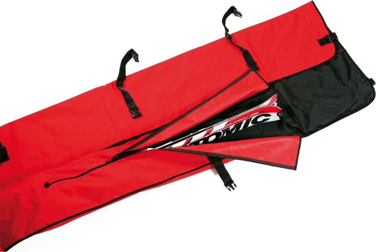 LEKI Pokrowiec na narty Ski Racing Bag czarno-czerwony (360300006) 360300006