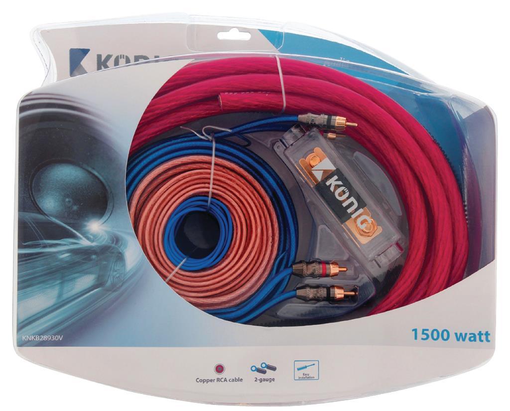 Konig Car Audio Kit 1500 W (2GA) auto audio aksesuārs