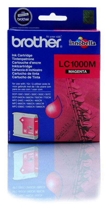 Brother LC1000M magenta | 400pgs | DCP330C/ DCP540CN/ MFC5460CN kārtridžs