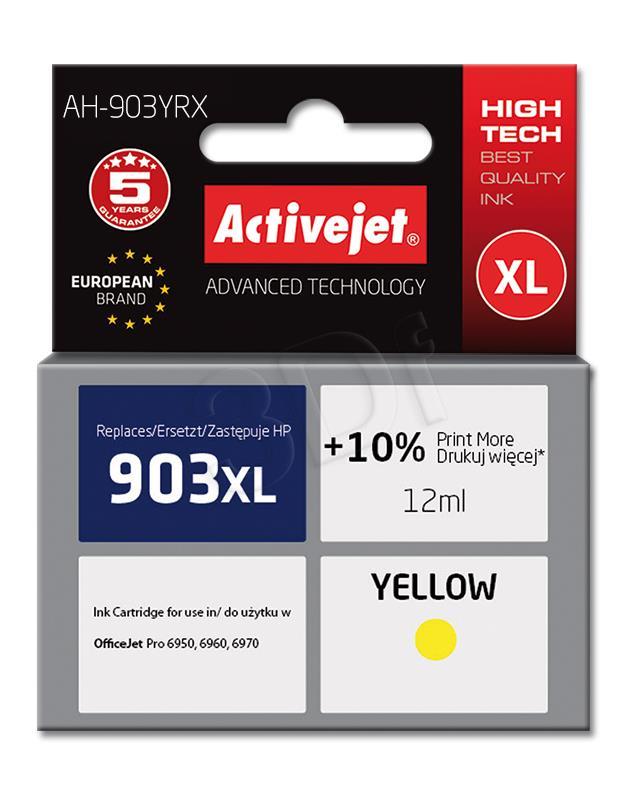 Activejet kārtridži zolty for drukarki HP (zamiennik HP 903XL T6M11AE) Premium (AH-903YRX)