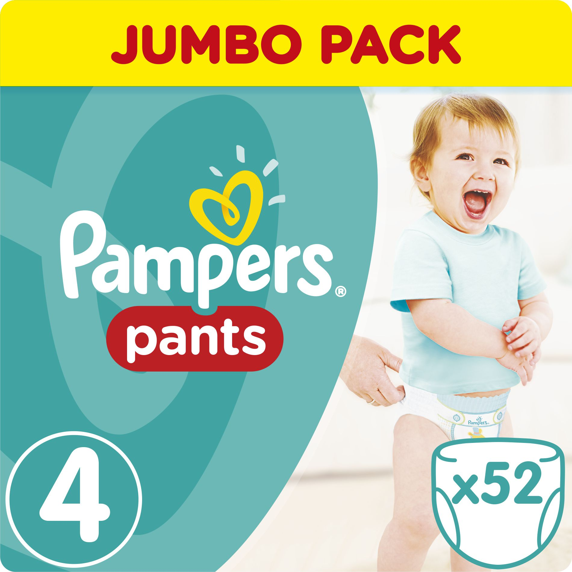 Pampers Pants Pieluchomajtki 4 Maxi 52 sztuki 1234756