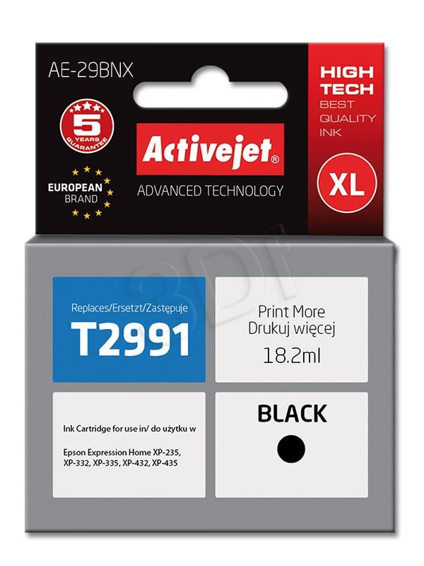 Activejet AE-29BNX (replacement Epson 29XL T2991; Supreme; 18 ml; black)