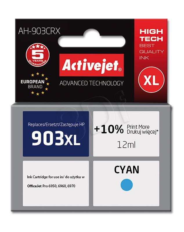 Activejet kārtridži blekitny for drukarki HP (zamiennik HP 903XL T6M03AE) Premium (AH-903CRX)