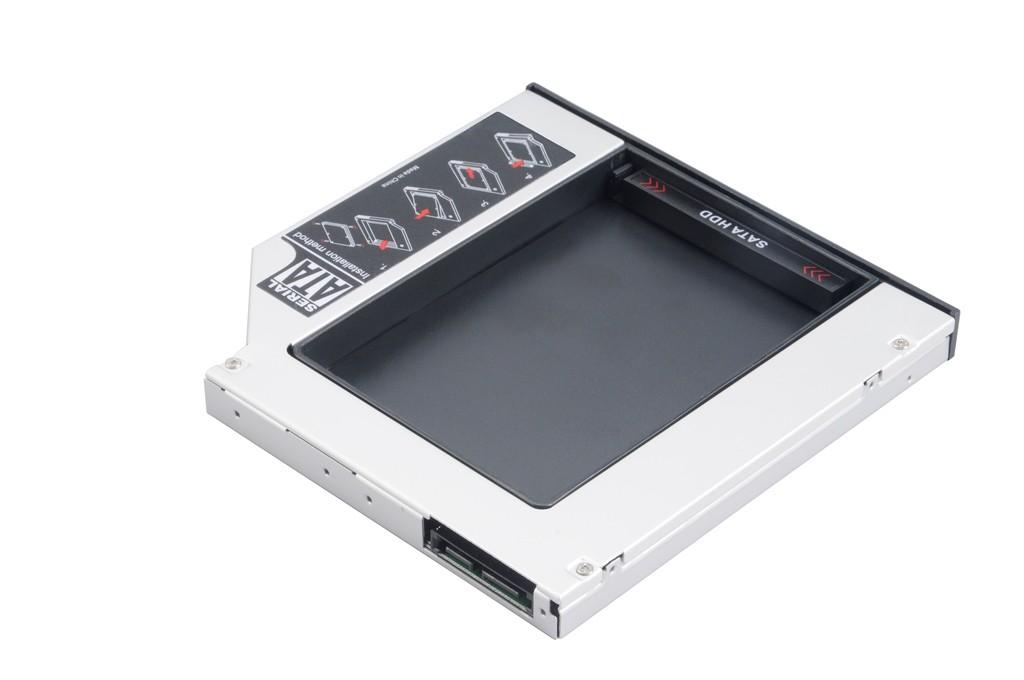 Akasa N.Stor Konverter 2,5 collas SATA SSD/HDD zu Laptop ODD - 13 mm cietā diska korpuss