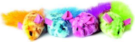 Dingo zabawka dla kota myszki 2 szt.  pomaranczowa+zielona - 21248 21248 piederumi kaķiem