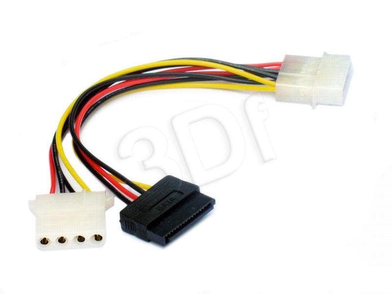 Molex female to Molex male + Serial ATA power cable kabelis datoram