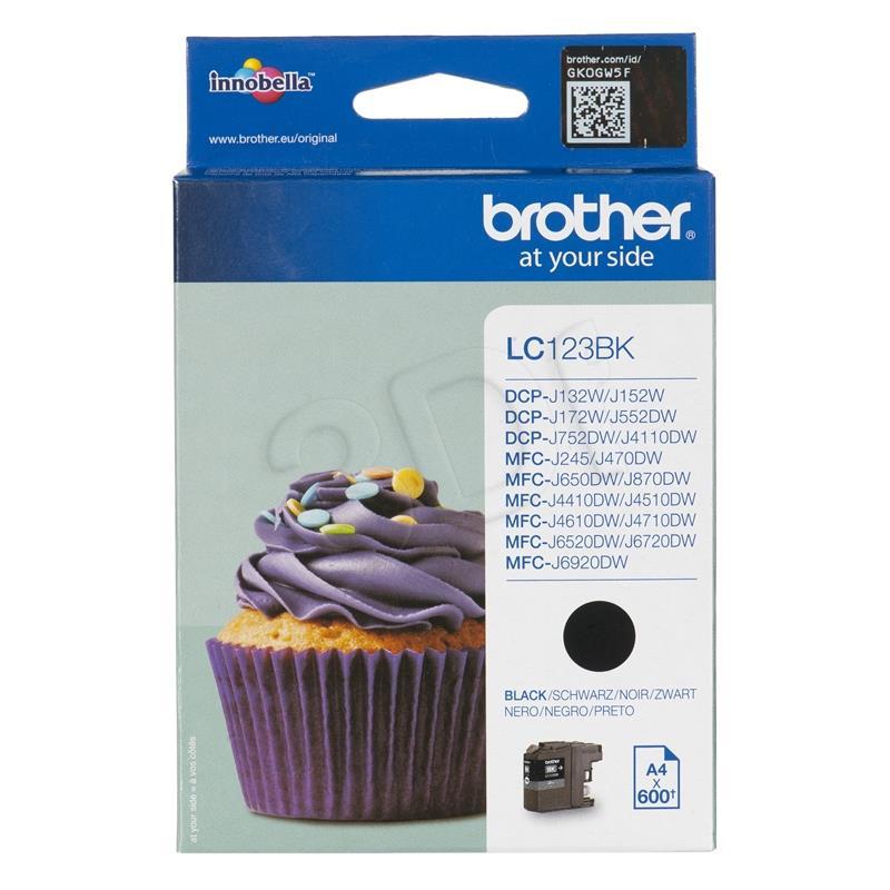 Brother LC123BK Black kārtridžs