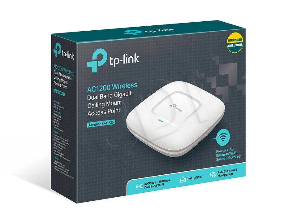 TP-Link EAP225 Wireless AC1350 AccessPoint Gigabit PoE Access point