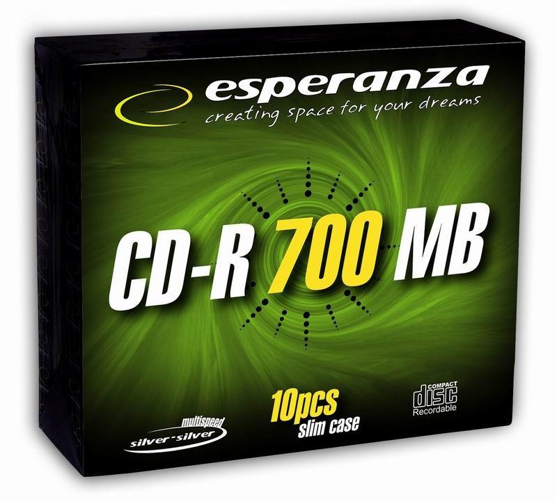 CD-R Silver 700MB x56 - Slim 10 matricas