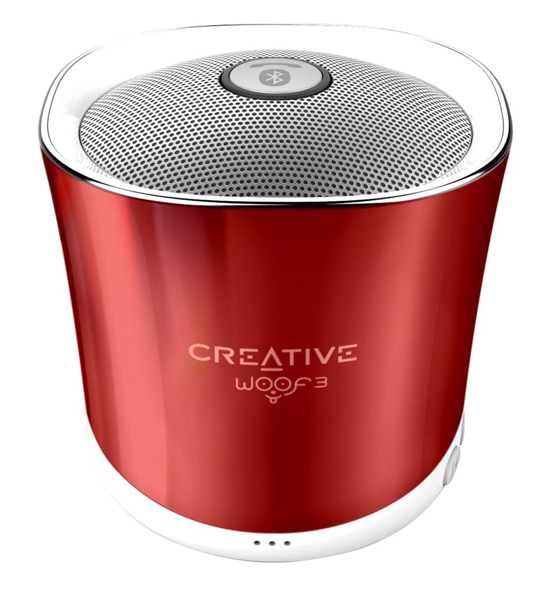 Creative Speaker WOOF3, rouge pārnēsājamais skaļrunis