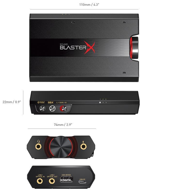 Card sound Creative Sound Blaster X G5 70SB170000000 (External; USB 2.0) 70SB170000000 skaņas karte