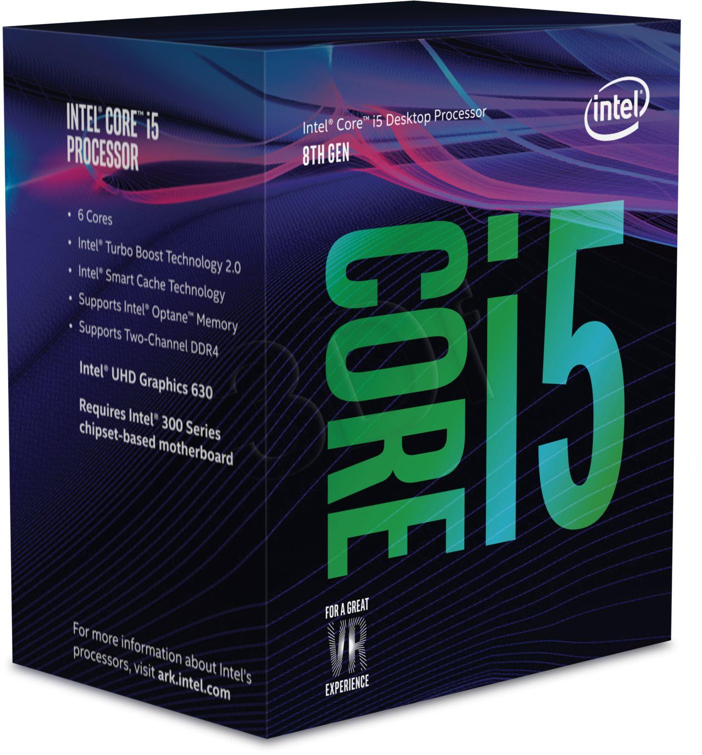 Intel Core i5-8600 3,1 GHz (Coffee Lake) Socket 1151 - boxed CPU, procesors