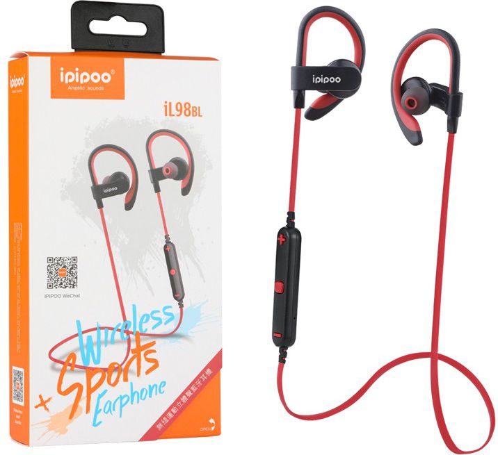 iL98BL Red by AWEI in-ear sports wireless Bluetooth headset 4.2 austiņas